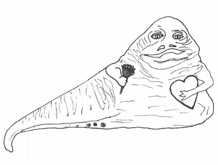 star wars coloring page for adults with jabba the hut web