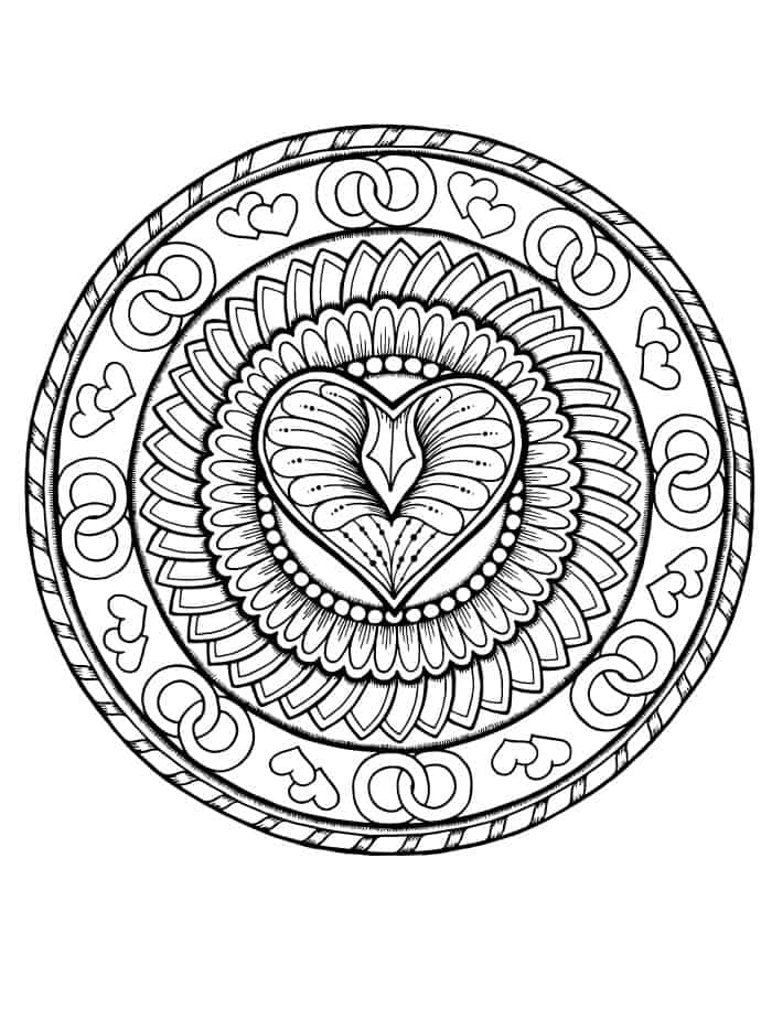 valentines coloring page free downloads