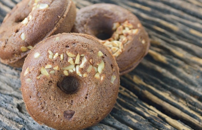Vegan Choclate Toffee Donuts