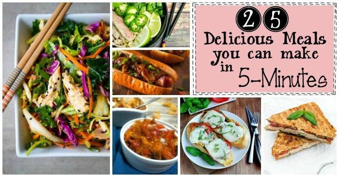 5-minute dinner ideas fb