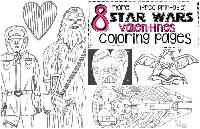 8 Free Printable Star Wars Valentines Adult Coloring Pages Fb