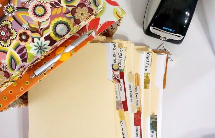 DIY chic tax organization file box feature
