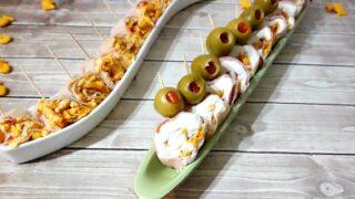 Easy Ham and Goldfish Cracker Sushi Bites feature
