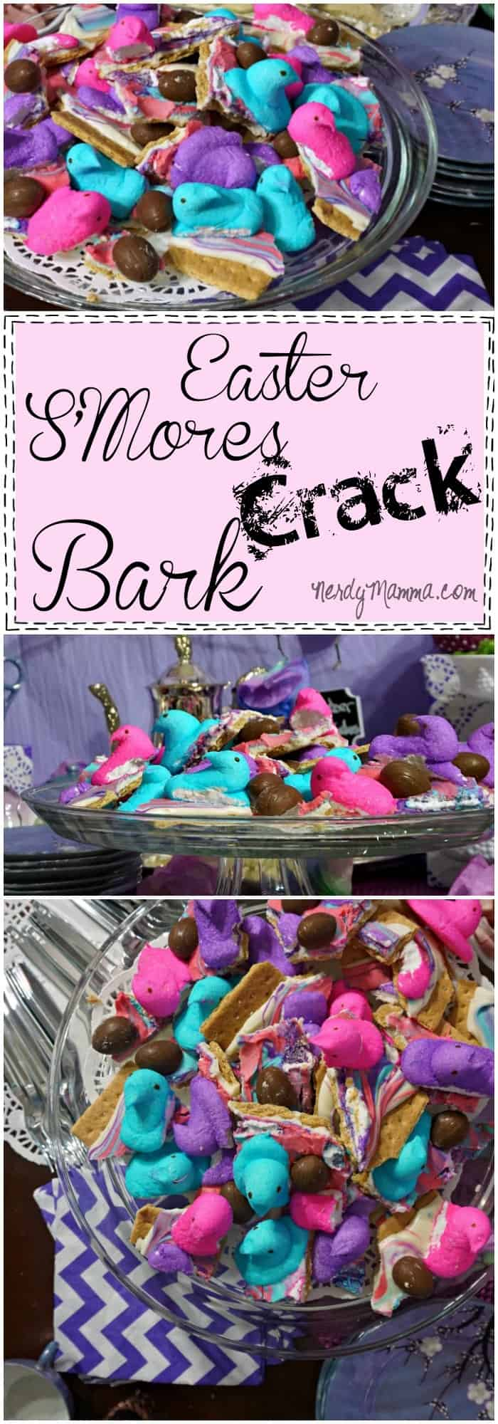 I love how easy this recipe for Easter S'mores Crack Bark is! Takes about 15 minutes to make--and then you have the perfect Easter treat!