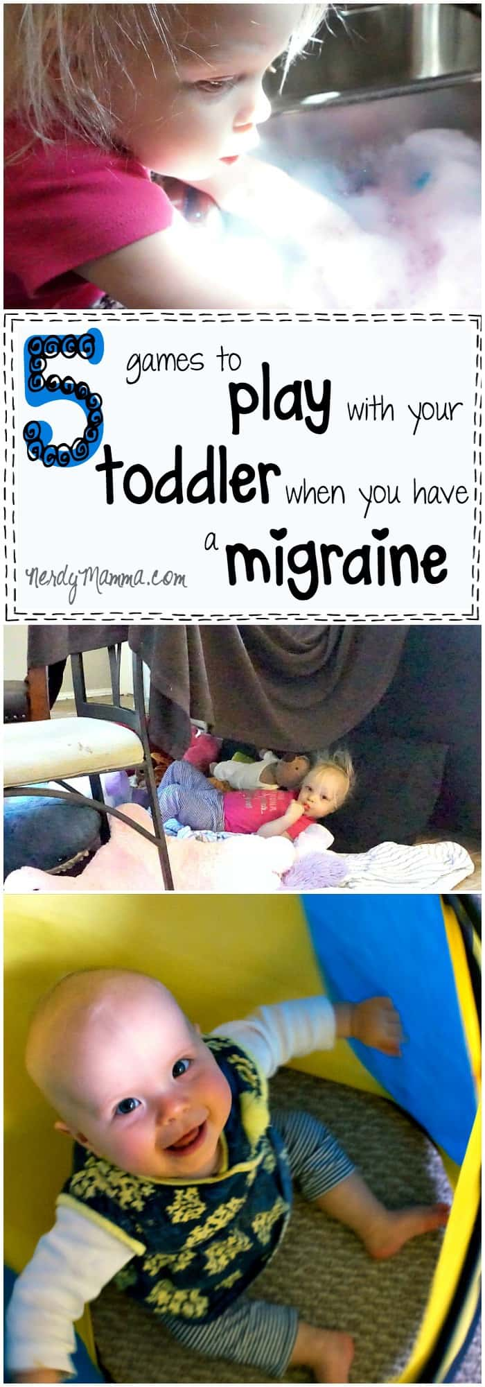 I love these ideas for playing with your toddler when you've got a migraine! Such fun when you feel like poo...LOL!