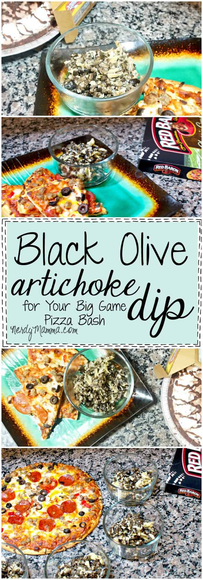 I love this recipe for Black Olive Artichoke dip. I mean, I'd never have thought of putting this on pizza, but wow!