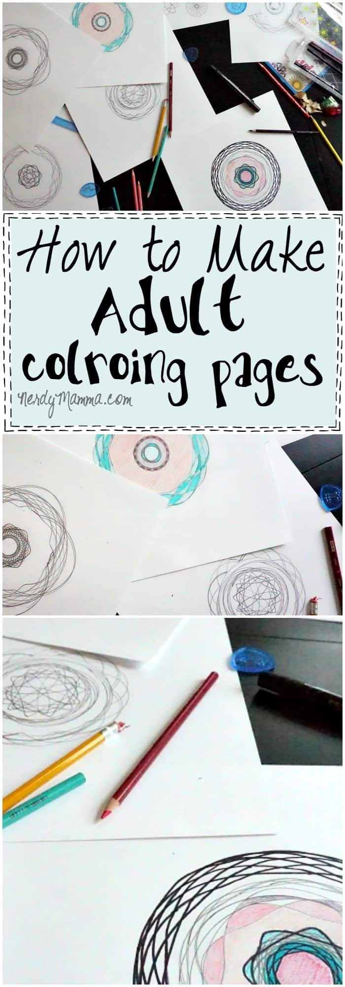 I love this tutorial for how to make adult coloring pages for yourself! It's so easy and kinda fun looking. LOL!