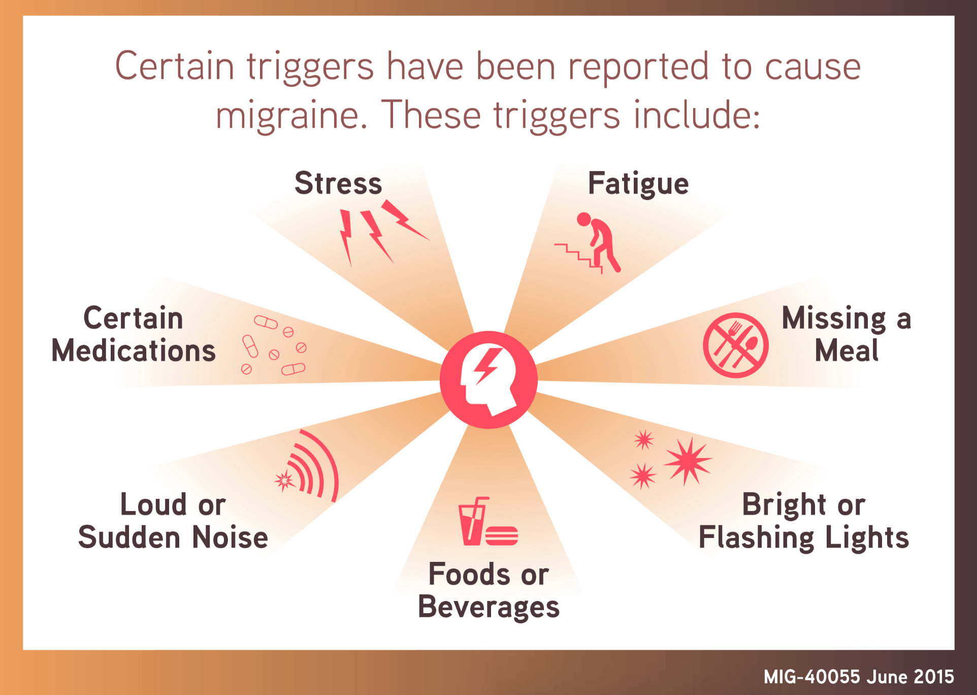 what are the triggers for a migraine