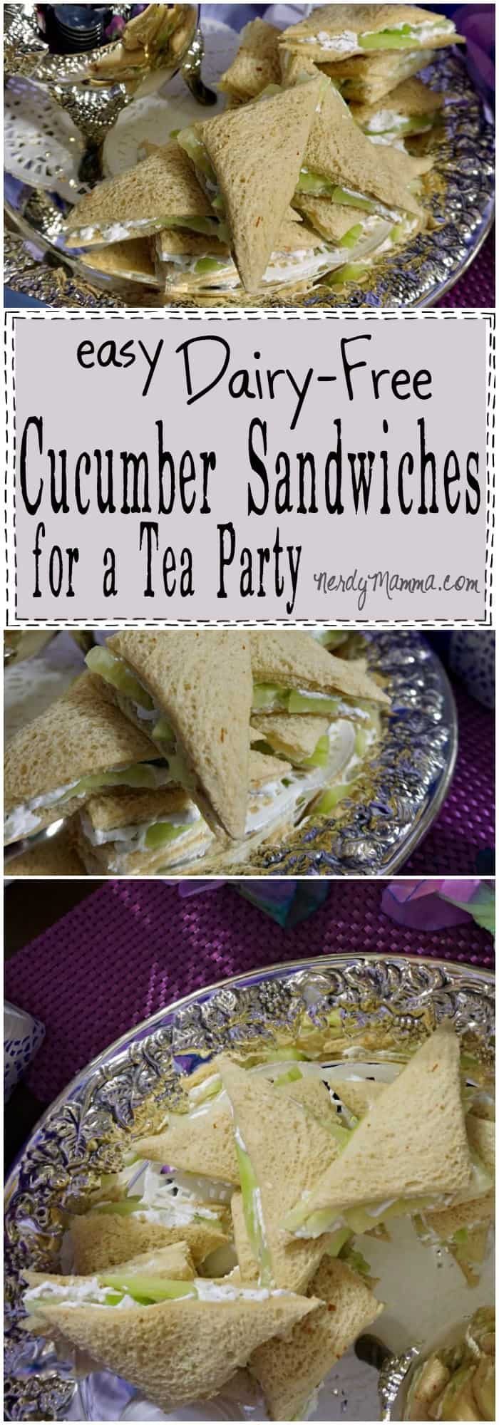 These little Cucumber Sandwiches are made Dairy-Free and they look just like the real thing! LOVE this idea!