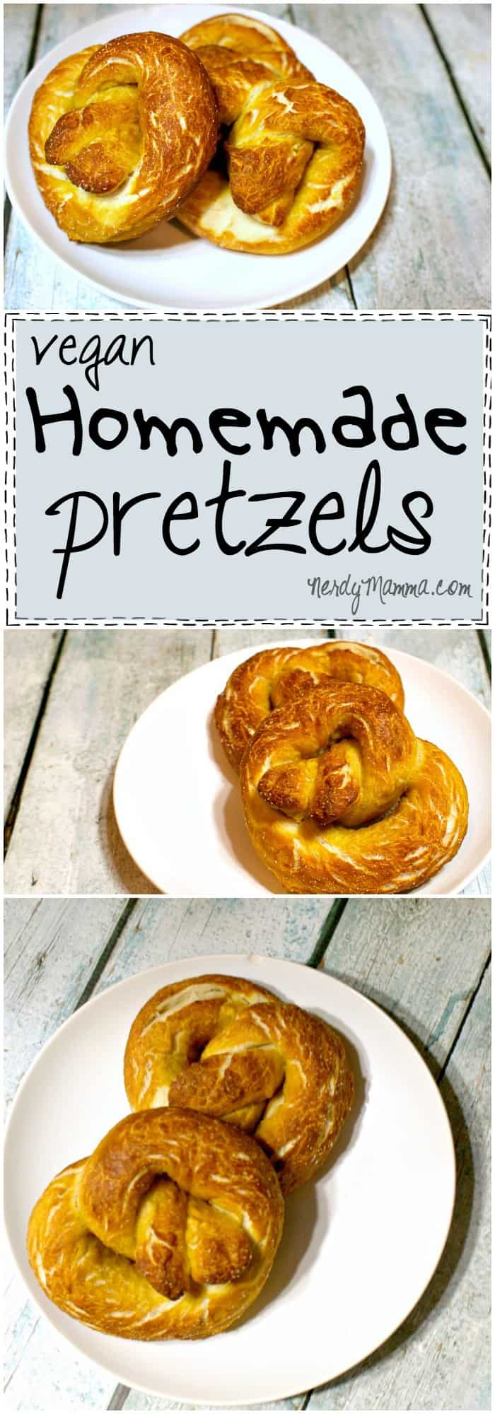 These vegan pretzels are totally awesome. All hot from the oven and awesome...LOVE IT!