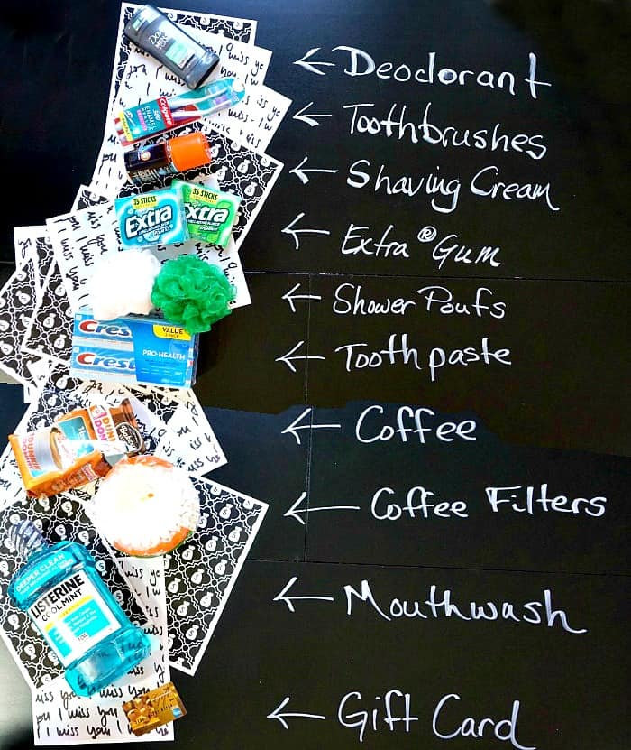 This is a great list of what college students like in a care package! Love it!