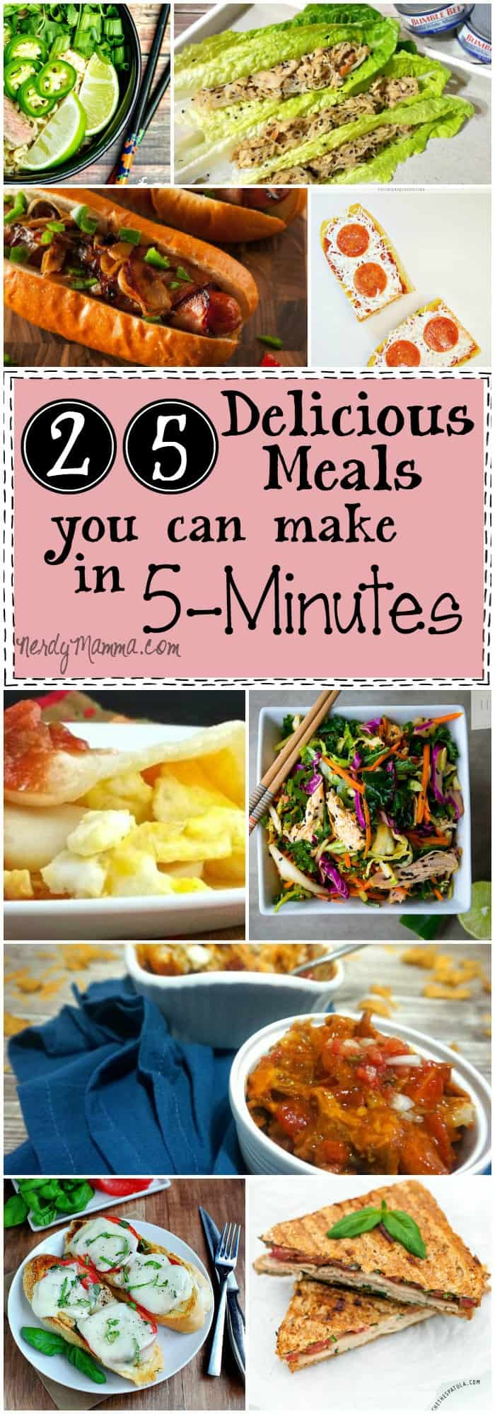 This is the BEST list of 5-Minute Meals I've ever had the pleasure...I mean, so many yummy ideas and they only take 5 minutes!