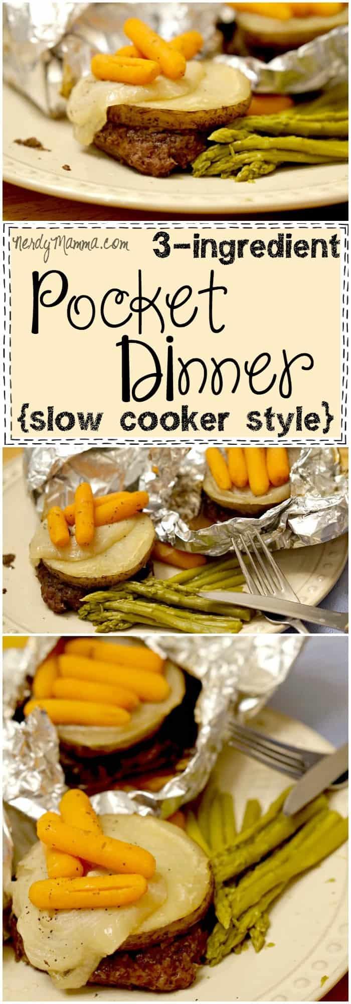 This recipe for 3-ingredient pocket dinners in the slow cooker is so easy. Gluten-free, dairy-free and fast, they're the best weeknight dinner. Love it!