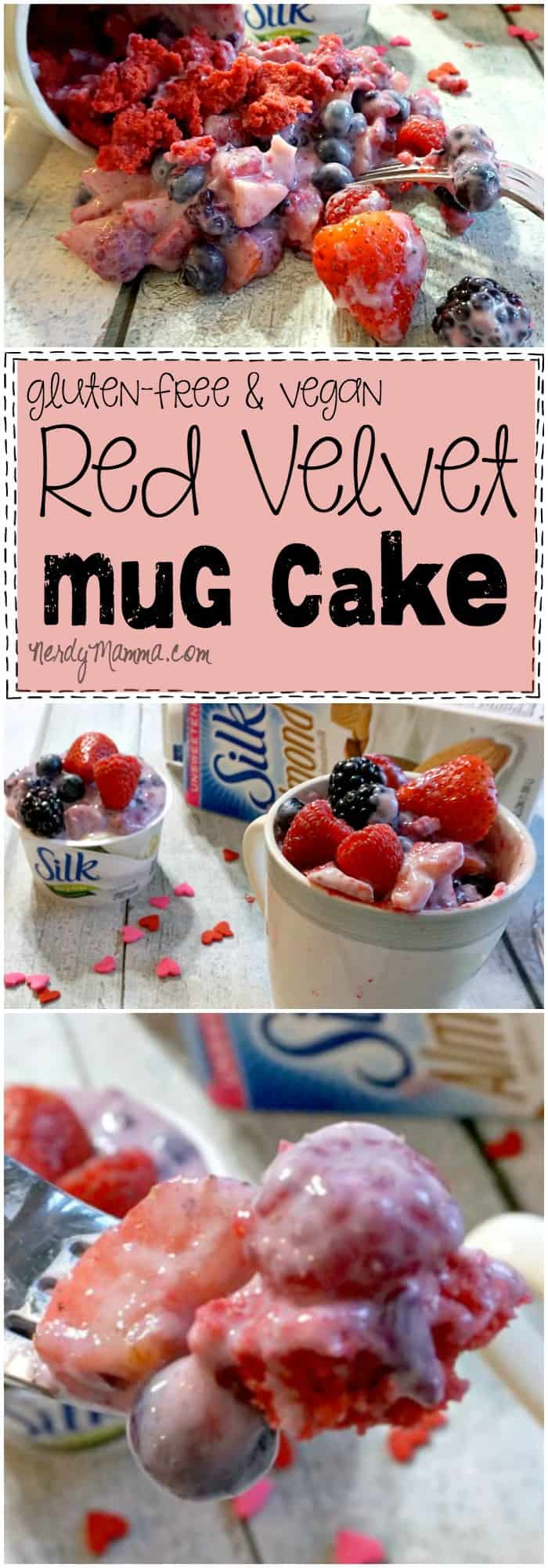 This recipe for a single-serve gluten-free and dairy-free red velvet mug cake looks so delicious. I love the idea...have to try it!