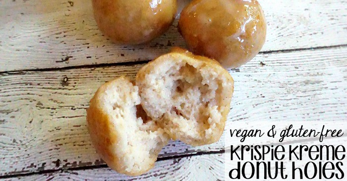 copycat recipe for krispie kreme donut holes without egg or dairy or wheat fb