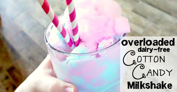 dairy-free cotton candy flavored milkshake fb