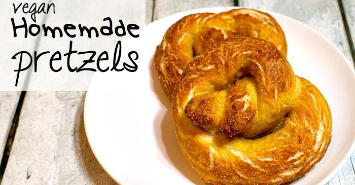 easy recipe for homemade vegan pretzels fb