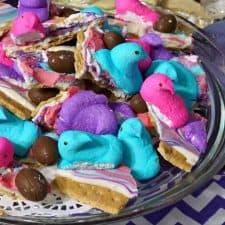 Easter Peeps S'Mores Crack Bark