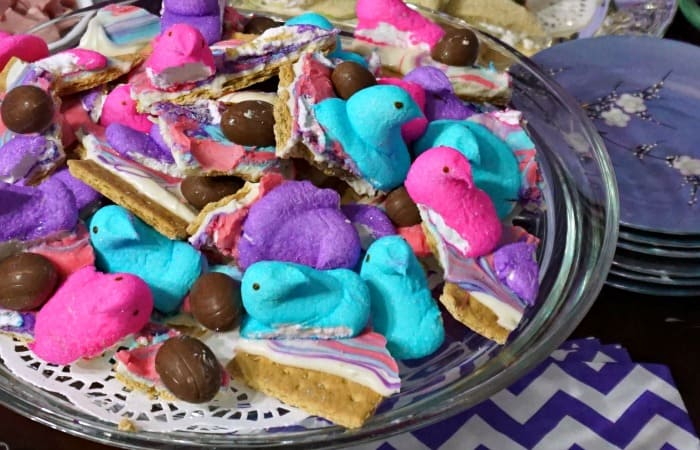 easy s'mores bark recipe for easter feature