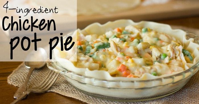 fast recipe for chicken pot pie fb