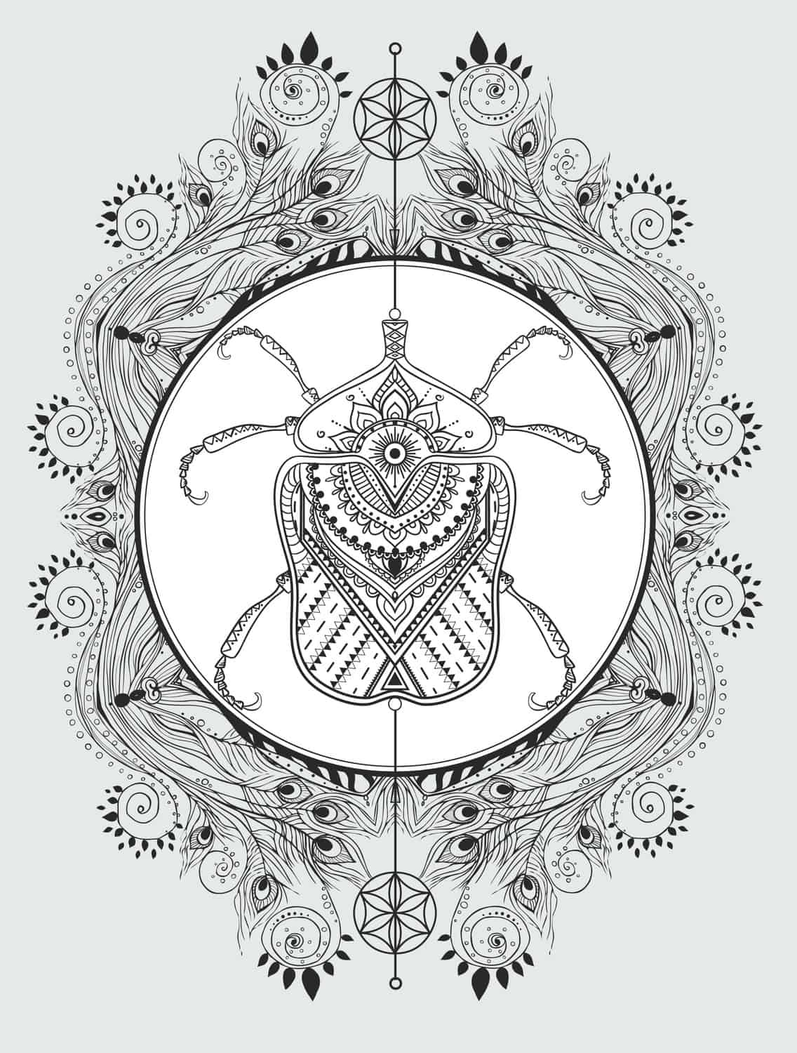 23 Free Printable Insect & Animal Adult Coloring Pages - Page 17 of ...