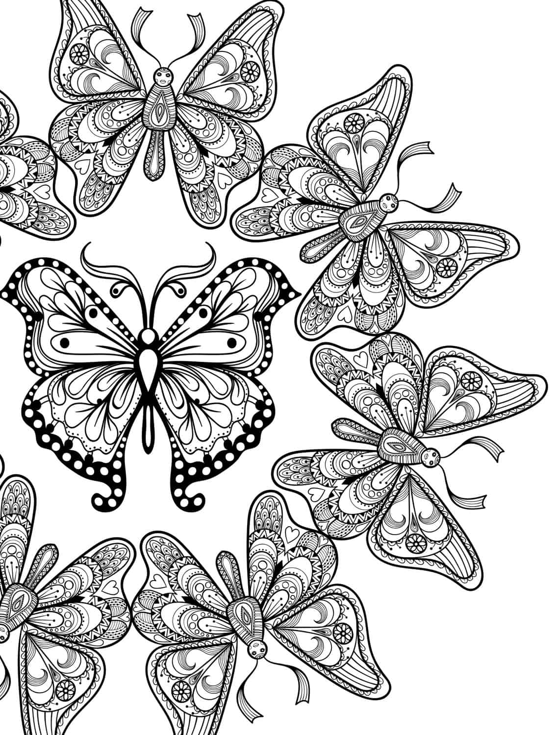 23 Free Printable Insect Animal Adult Coloring Pages Coloring Sheets Printable For Adults