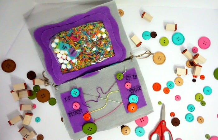 fun busy bag game for toddlers that teaches basic coding principles