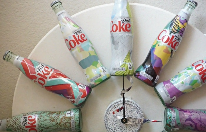 how to build a clock out of coke bottles feature