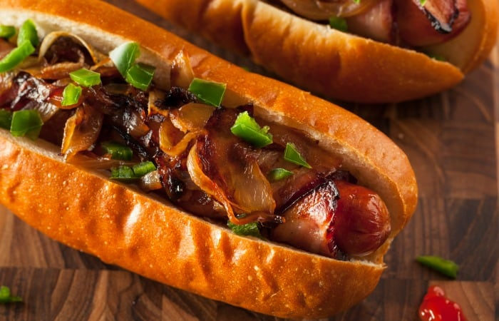 how to make bacon-wrapped hot dogs feature