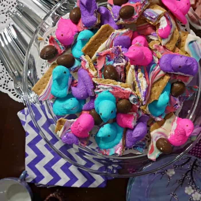 how to make s'mores bark for easter sq