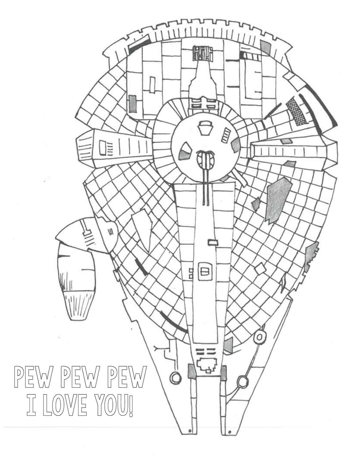 spaceship coloring page free download