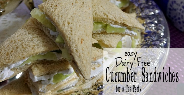 tea party cucumber sandwiches that are dairy-free fb