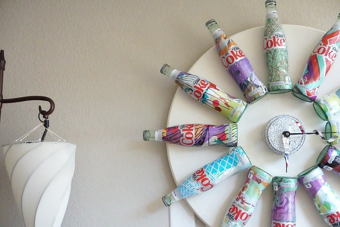 upcycling project with coke bottles hero
