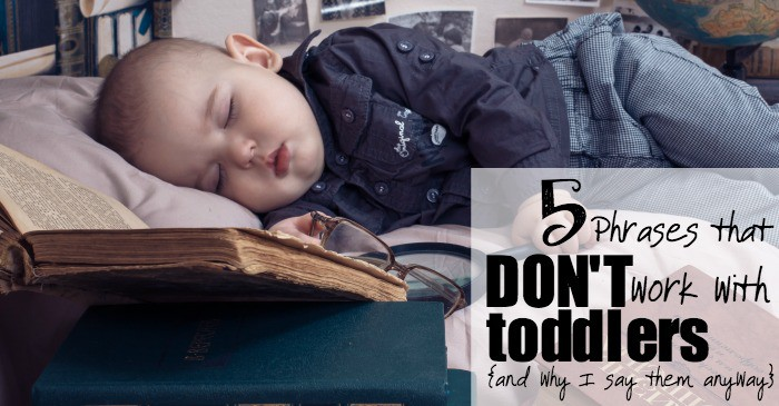 5 phrases that don't work with toddlers and why I say them anyway fb