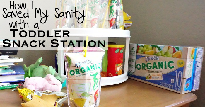 How I Saved My Sanity with a Toddler Snack Station fb