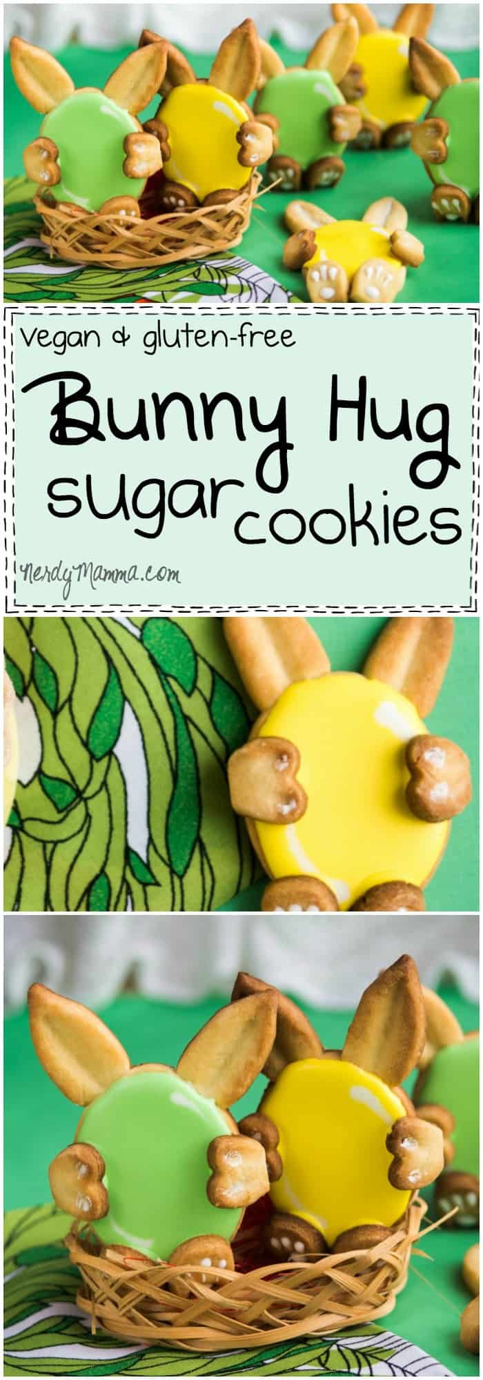 I can't get enough of these cute little bunny hug cookies! They're adorable! And they're vegan and gluten-free sugar cookies. So, kinda awesome, right!