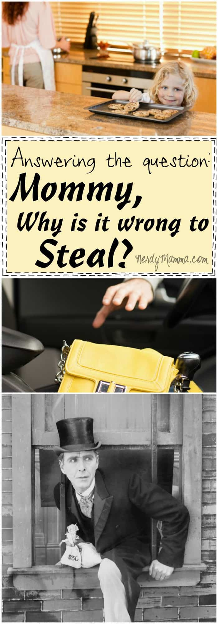 I love this discussion on why it's wrong to steal and how to explain it to kids.