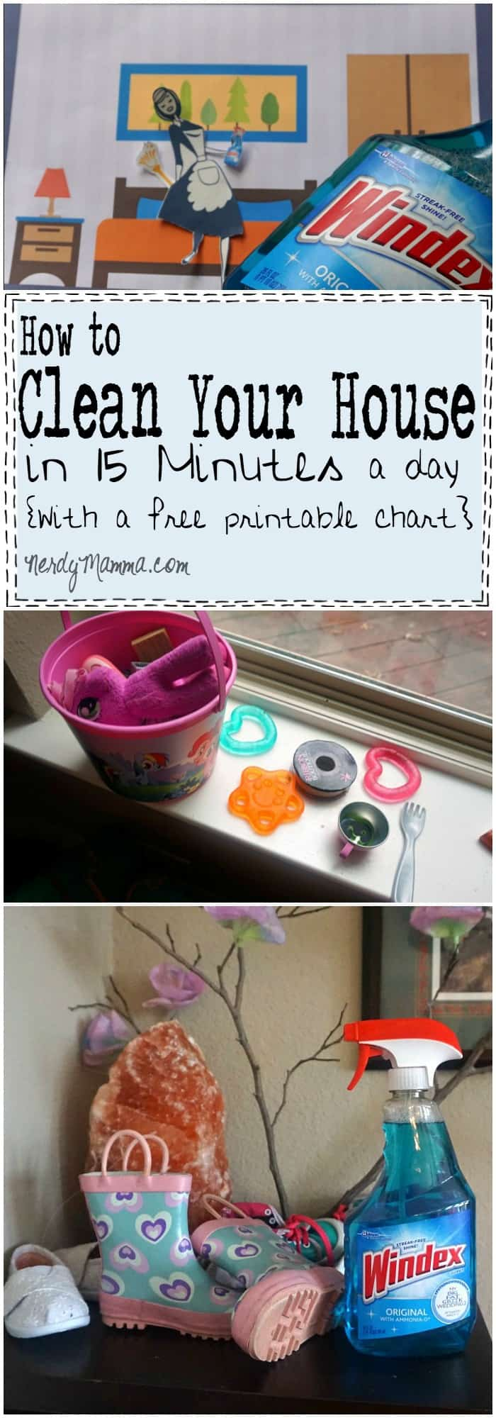 I love this easy idea for cleaning your house in 15-minutes a day! I totally have to try it.