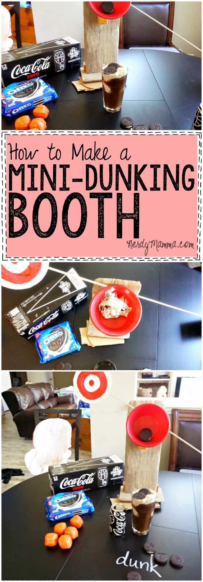 I love this quick tutorial for making a mini-dunking booth. It would be PERFECT for a party...LOL!