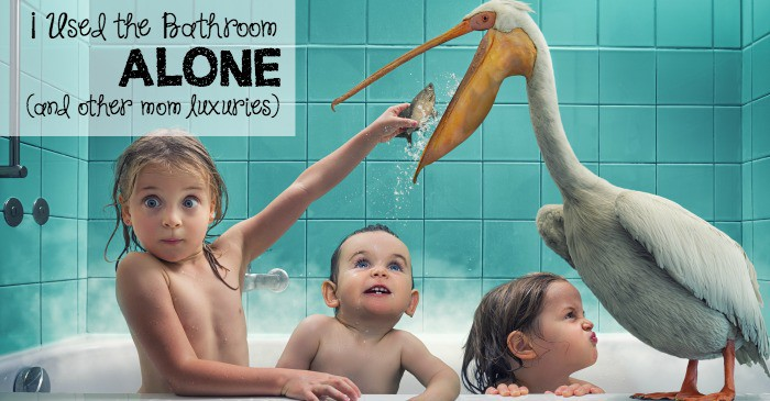 I used the bathroom alone (and other mom luxuries) fb