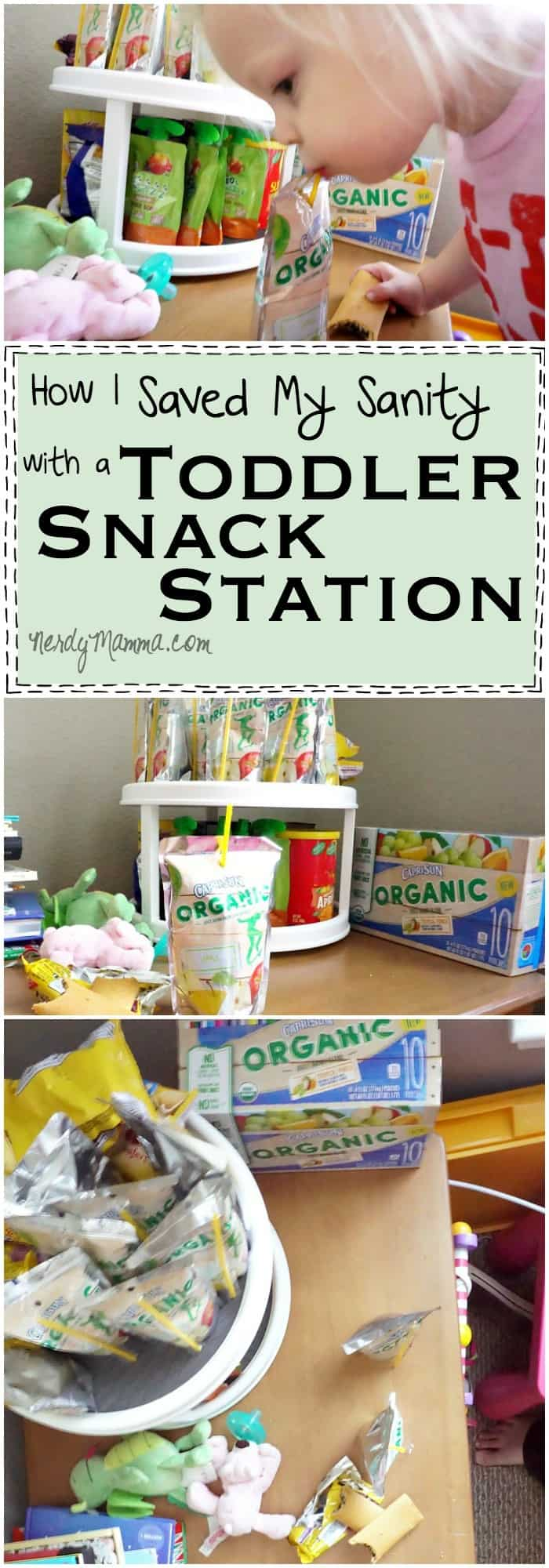 I've never thought of setting up a Toddler Snack Station--such a great idea!