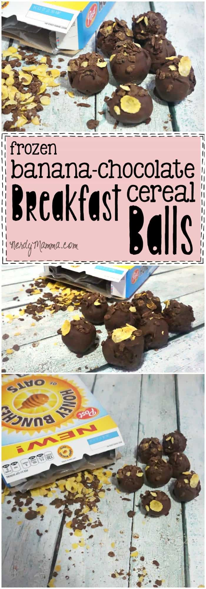 Oh, man, I love these frozen Banana & Chocolate Breakfast Balls. They're so yummy-looking and just AWESOME.