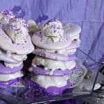 Ombre Meringue Ice Cream Cookie Towers {eggless and vegan} feature