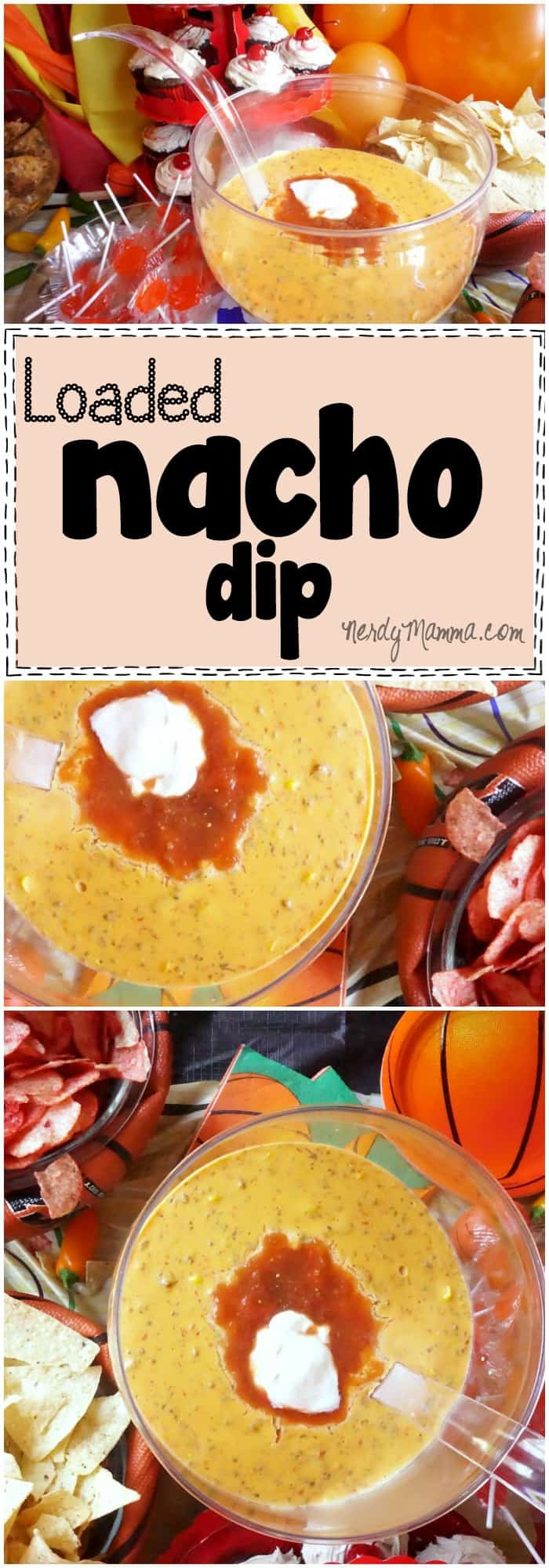 This recipe for loaded nacho dip is so awesome. And easy--did you even know you could make queso in the slow cooker Love it!
