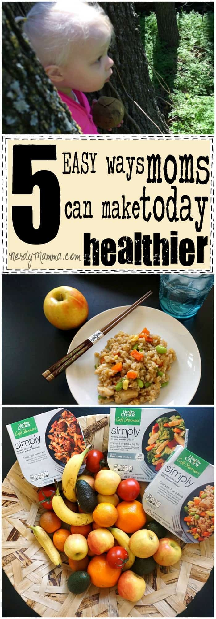 These 5 easy ways moms can make today healthier are so simple...but such great ideas.
