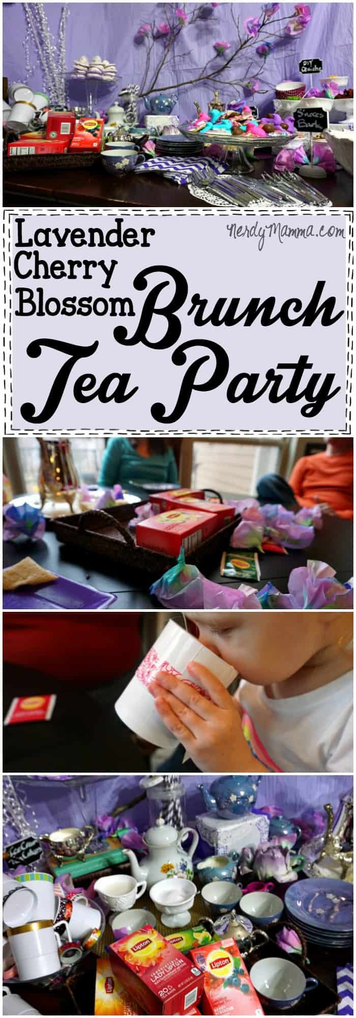 This Lavender Cherry Blossom Brunch Tea Party is SO PRETTY. I love all the purple and the DIY Quiche Bar is brilliant!