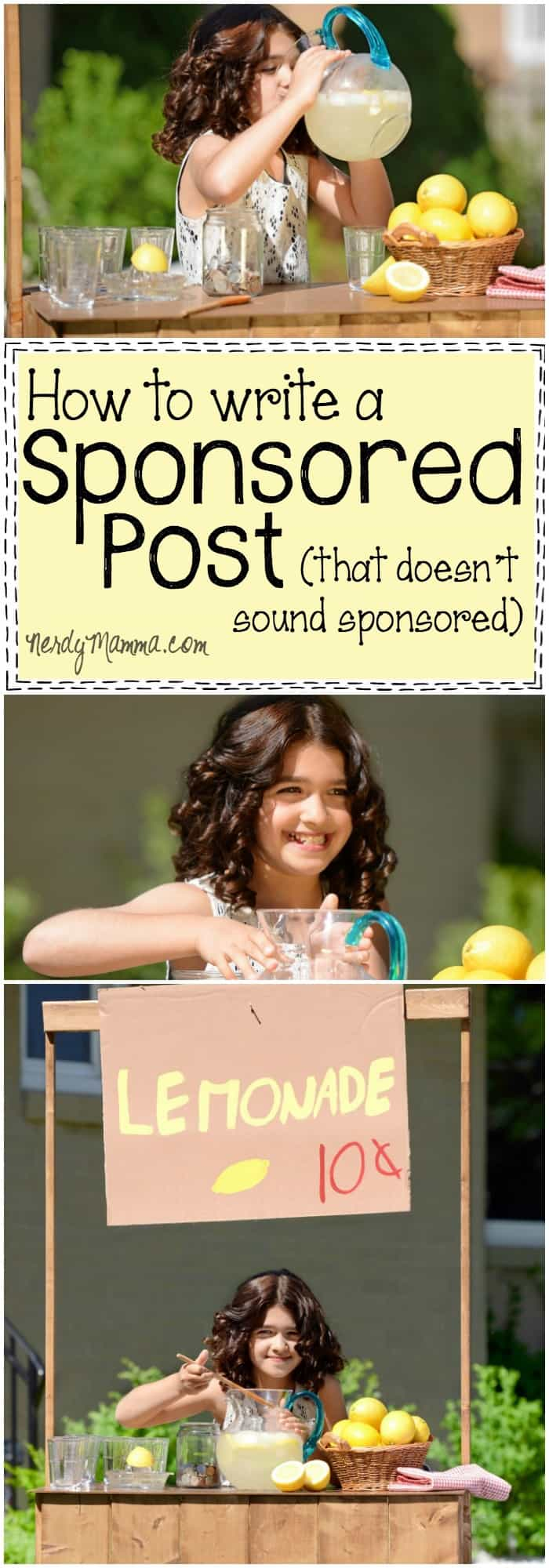 This is such a helpful post on how to write a sponsored post that doesn't sound sponsored--and that sponsors want you to write...