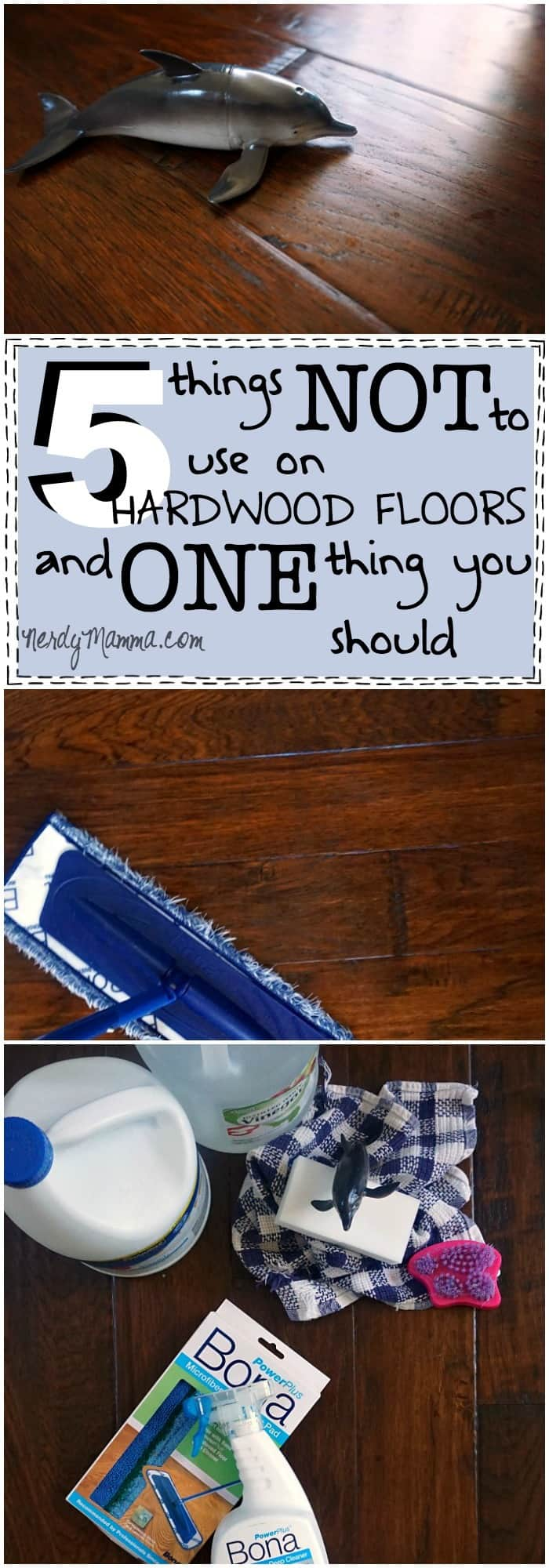 This is such awesome information on what NOT to use to clean a hardwood floor--and what to use instead! AD