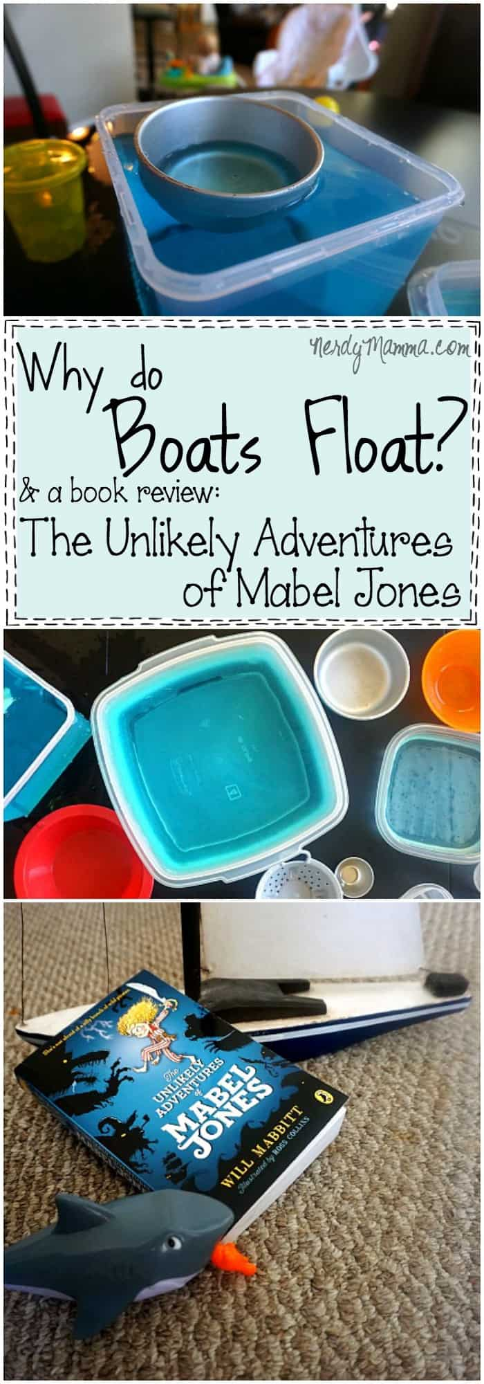 This is the funnest science experiment for talking about buoyancy and how boats float. And the book sounds cute, too!