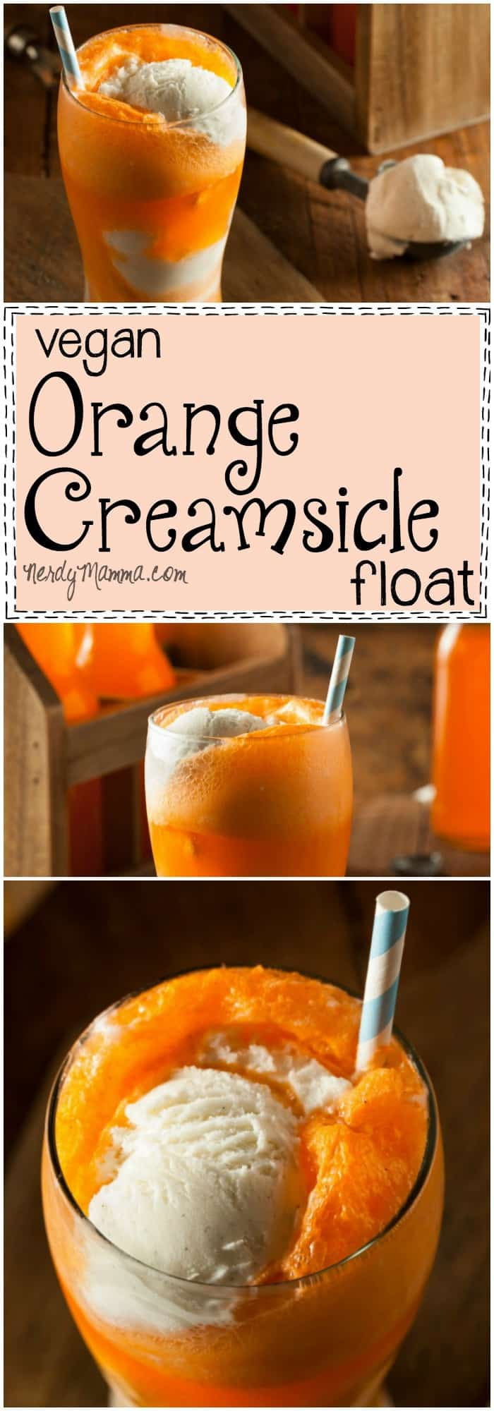 This recipe for Vegan Orange Creamsicle float is just so awesome! I mean--I thought I'd never get that awesome, yummy, creamy flavor again...but now! LOVE!